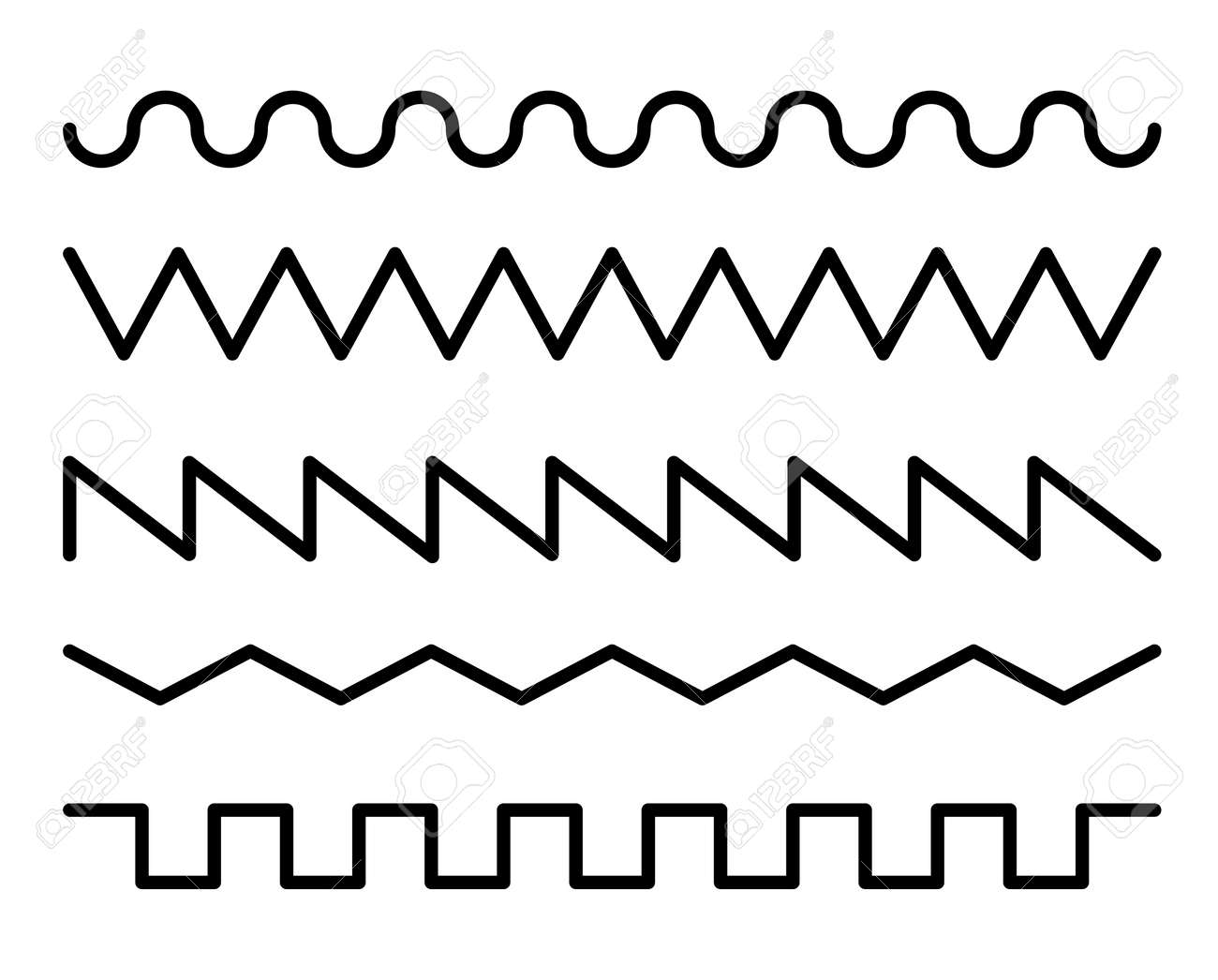 Wave line design variation set - 170877696