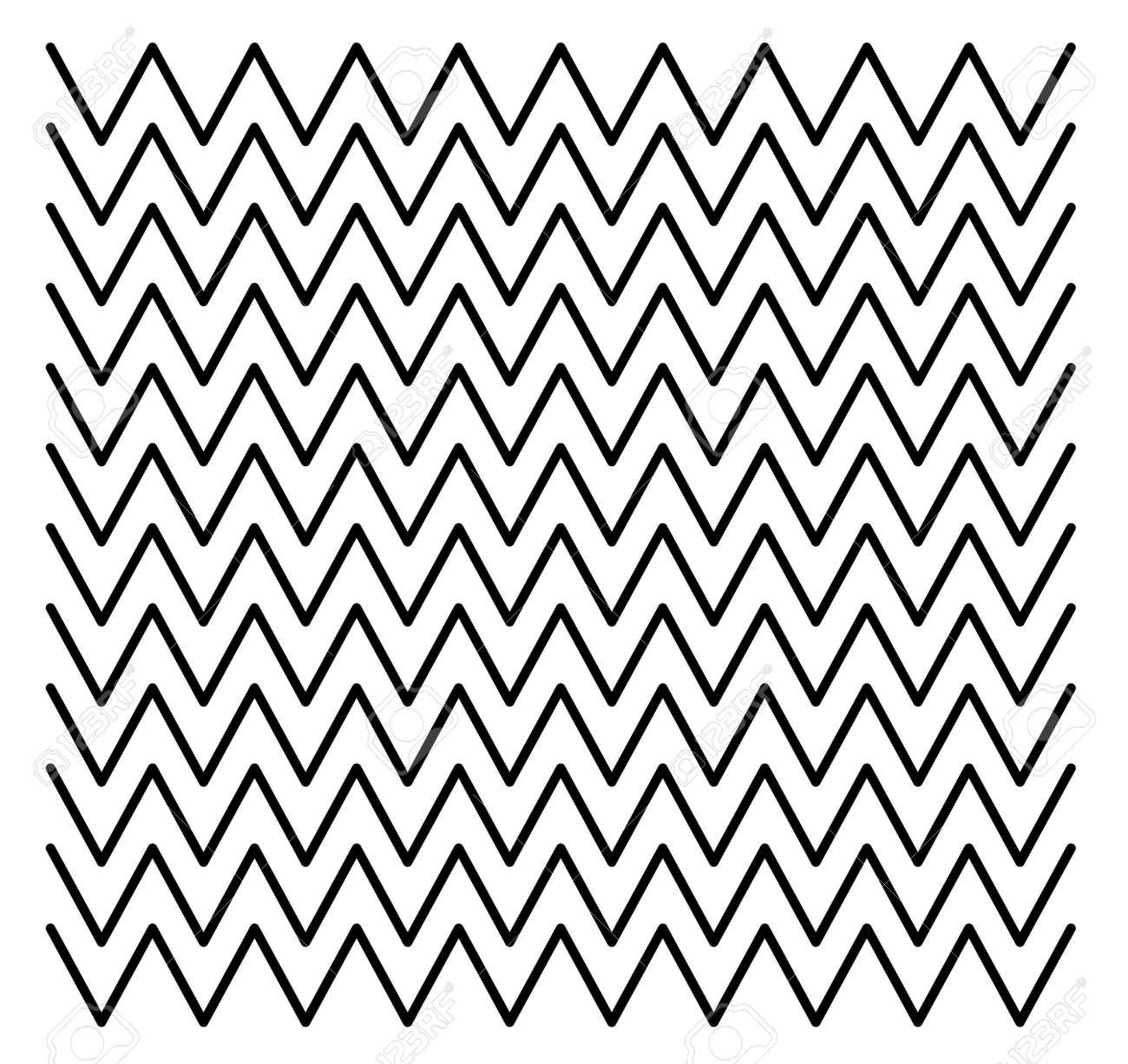 Wave zigzag line pattern design - 170877697