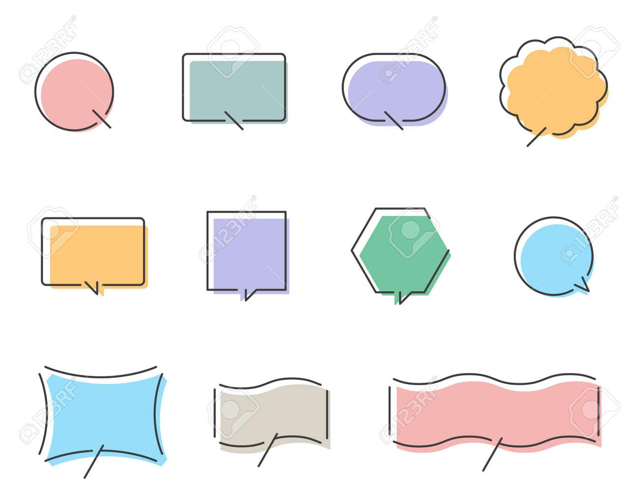 Colorful speech balloon design set - 171194300
