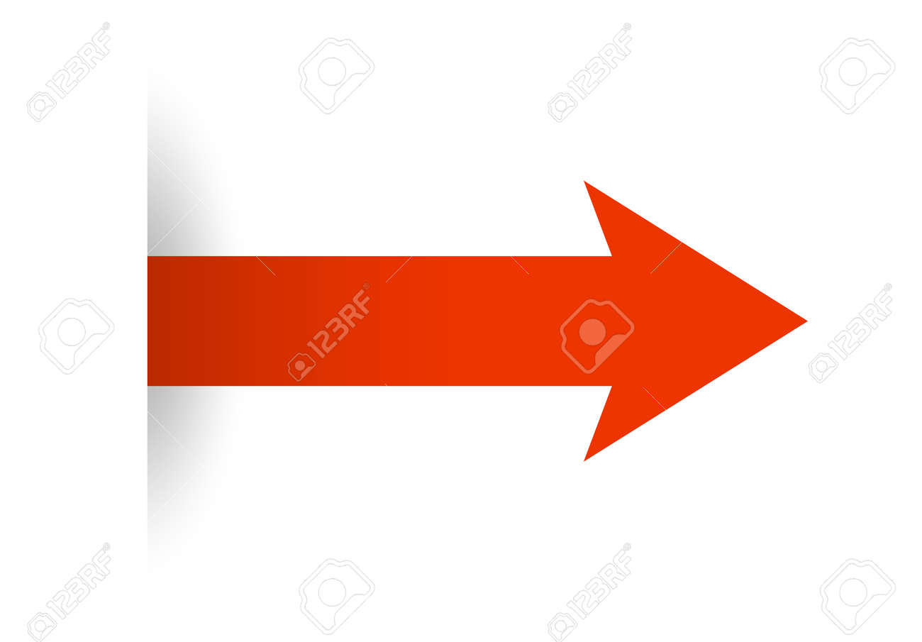 Red arrow icon to move forward - 171265410