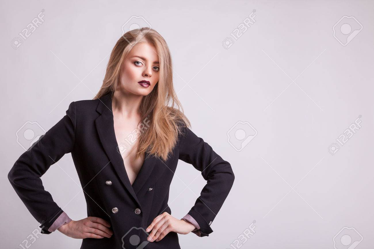 Cravatta Donna In La Stock Su Giacca Immagini Reggiseno E Senza pzLUqSVGM