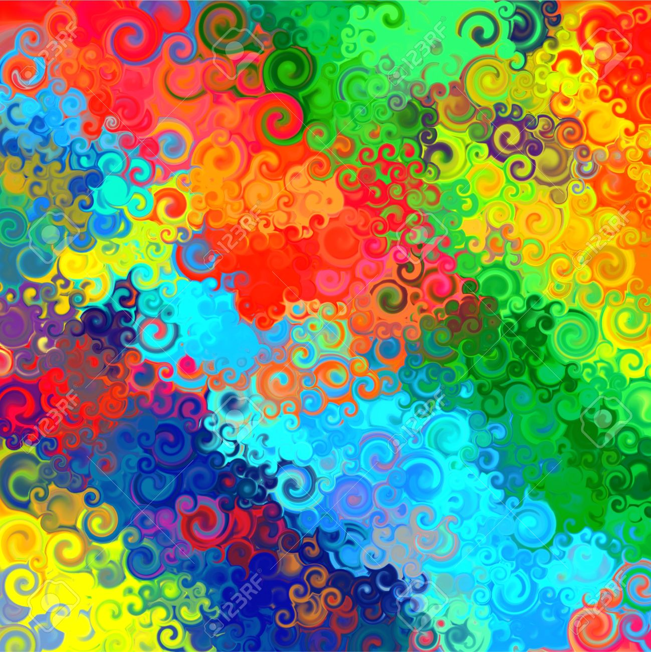 Abstract Rainbow Colorful Watercolor Swirl Art Background Pattern Stock Photo Picture And Royalty Free Image Image 17967454