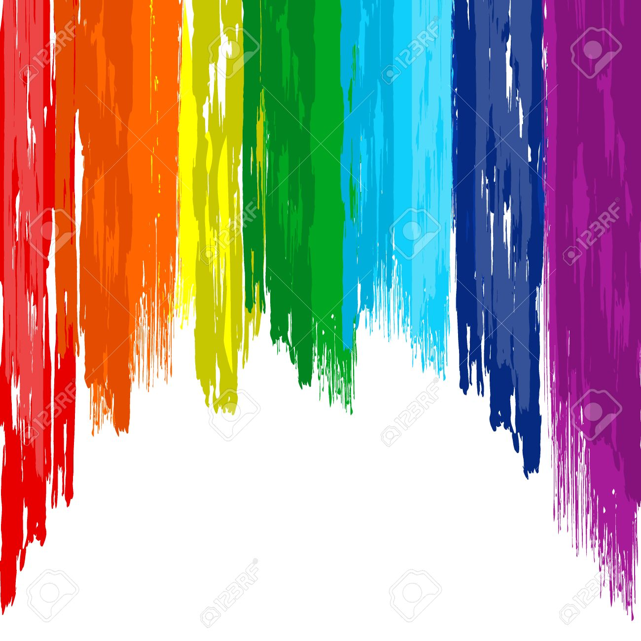 art rainbow brush stroke abstract color background royalty free