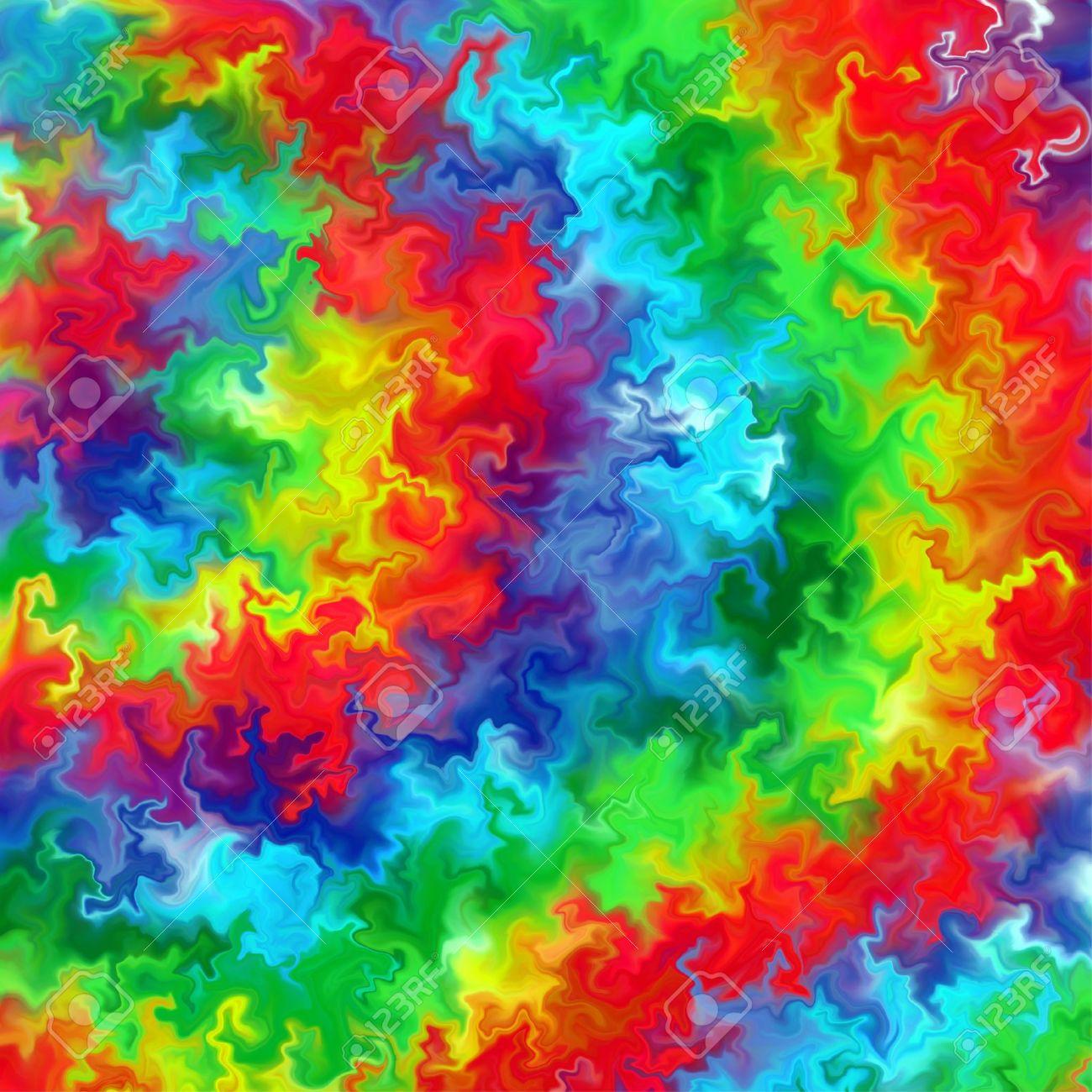 Abstract Rainbow Color Paint Splash Art Background