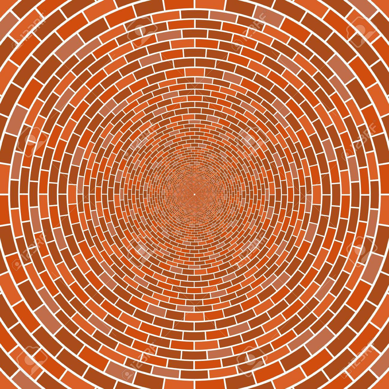 Resume Cercle De Mur De Brique Architecturale Illusion D Optique