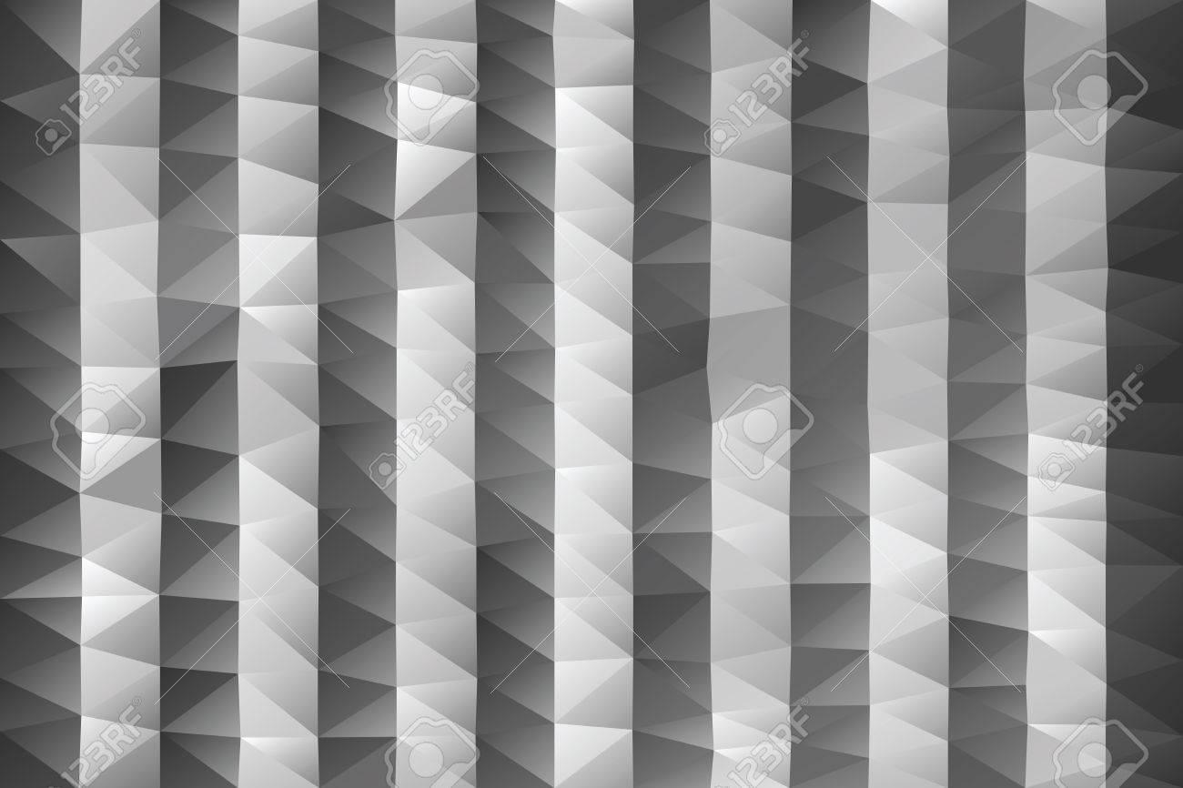 fondo triangular rayas poligonales abstractas en escala de grises foto de archivo
