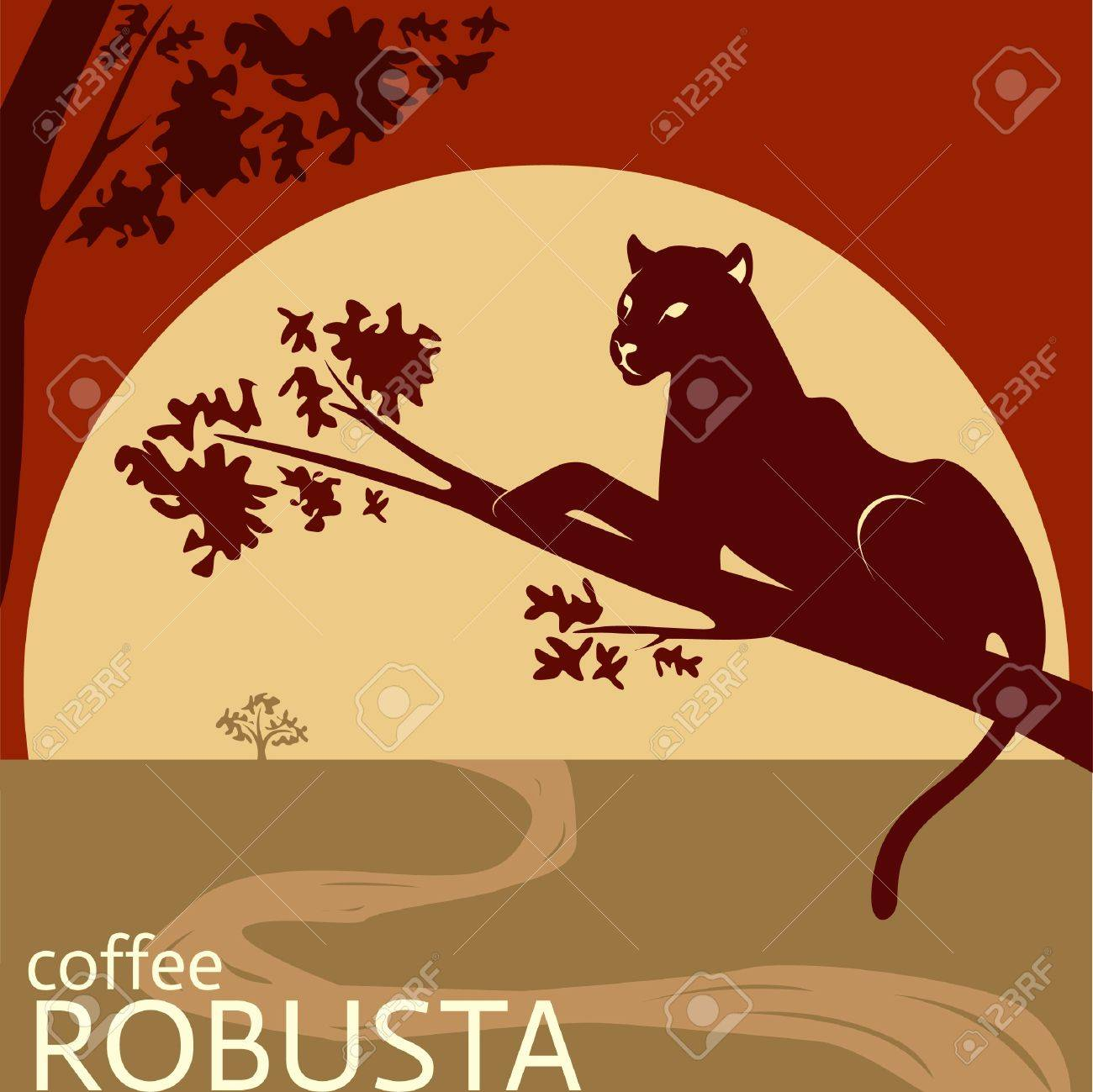Robusta coffee package tag design - concept for company Stock Vector - 20633505