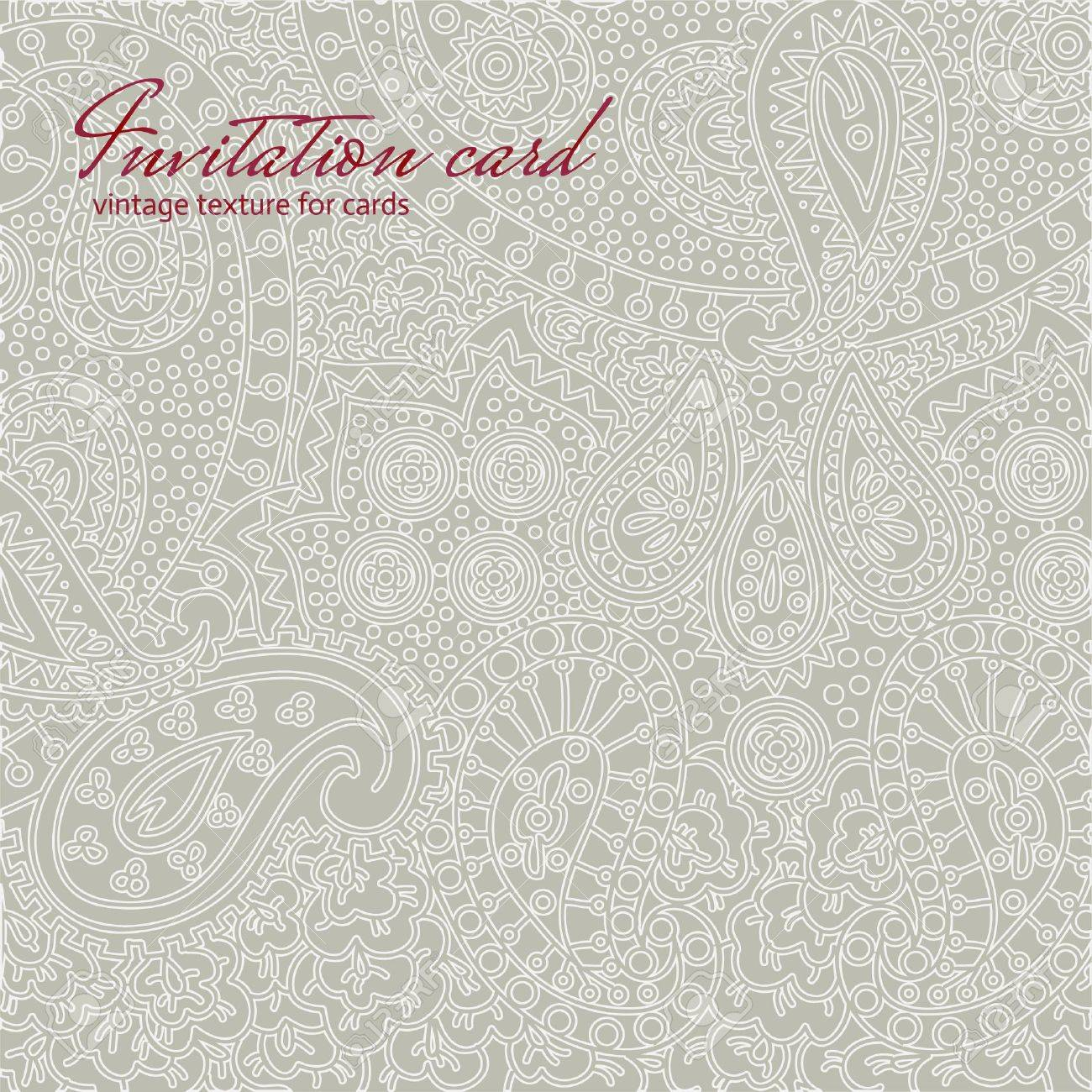 Grey vintage non seamless floral invitation card texture royalty grey vintage non seamless floral invitation card texture stock vector 20633514 stopboris Image collections