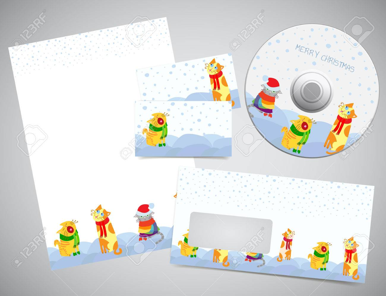 corporate identity or gift set christmas design print templates corporate identity or gift set christmas design print templates letter paper page business