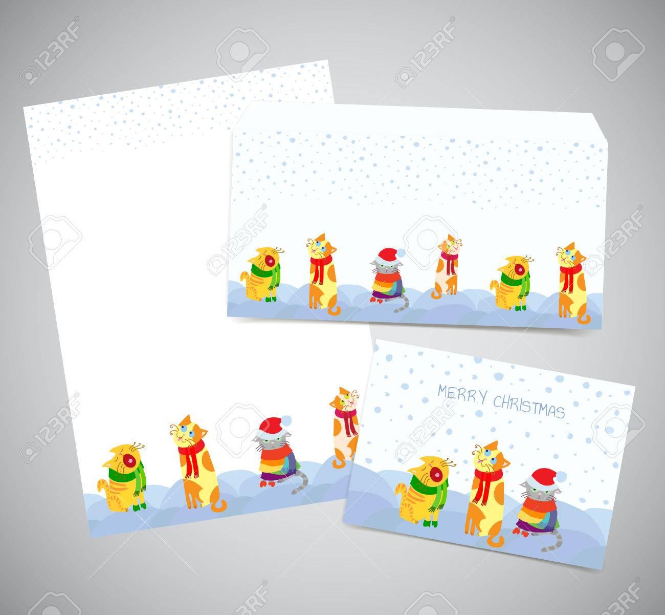 corporate identity or postal set christmas design print corporate identity or postal set christmas design print templates of letter paper page