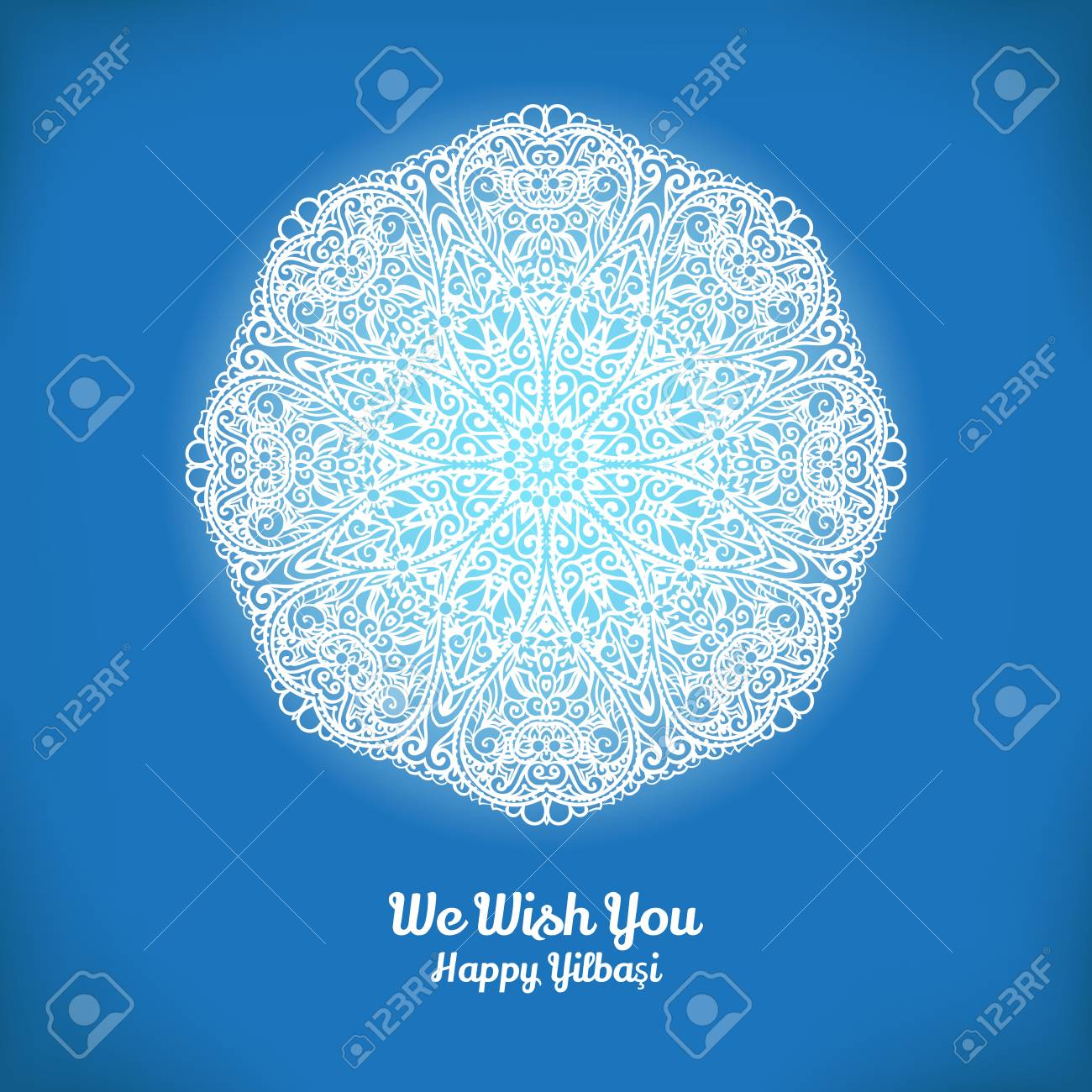 Vector christmas and new year card template with glowing showflake vector vector christmas and new year card template with glowing showflake and turkish winter holiday name yilbasi m4hsunfo