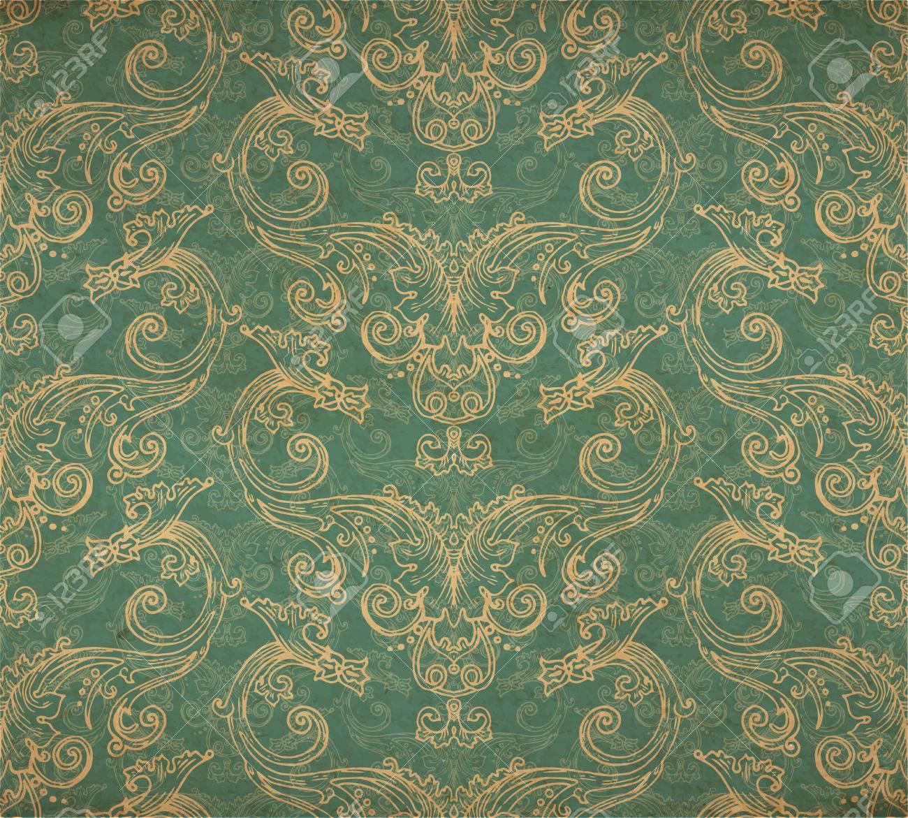 Vector Illustration Du Vieux Papier Peint Vintage Orné Victorienne