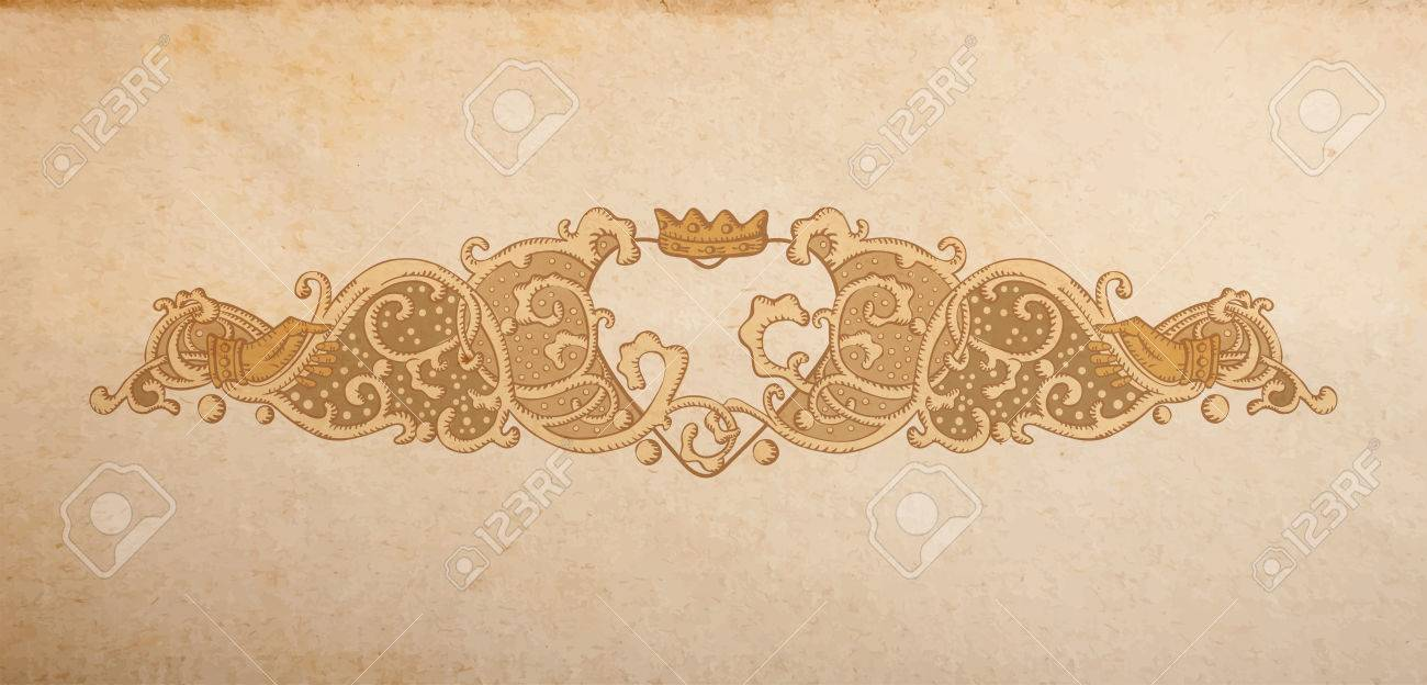Vintage Vektor Hochzeit Ornament Mit Herz Und Cluddah Irische Hande