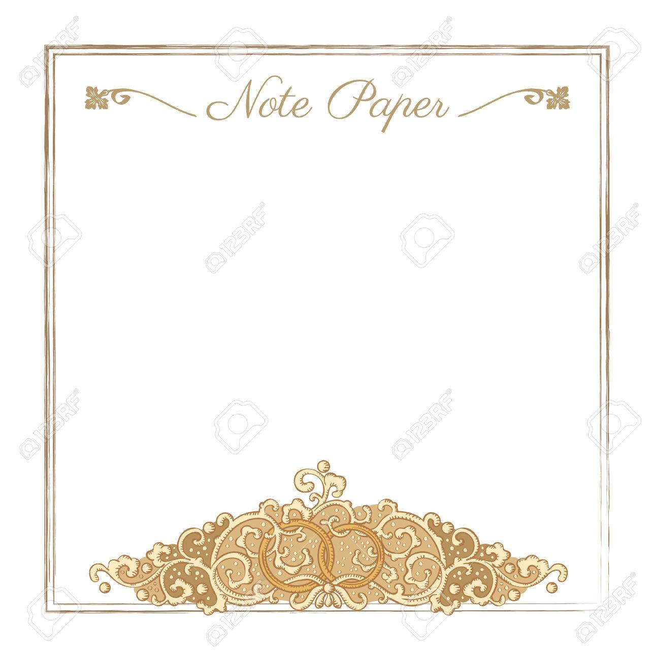 Vintage vector wedding stationery background with medieval ornament vector vintage vector wedding stationery background with medieval ornament and rings stopboris Choice Image