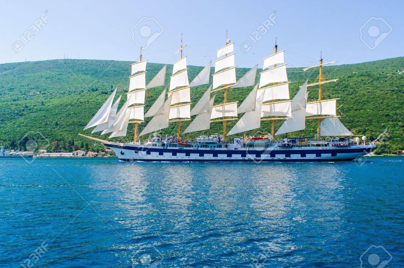 Luxury yacht in Adriatic sea, Montenegro Stock Photo - 14485277