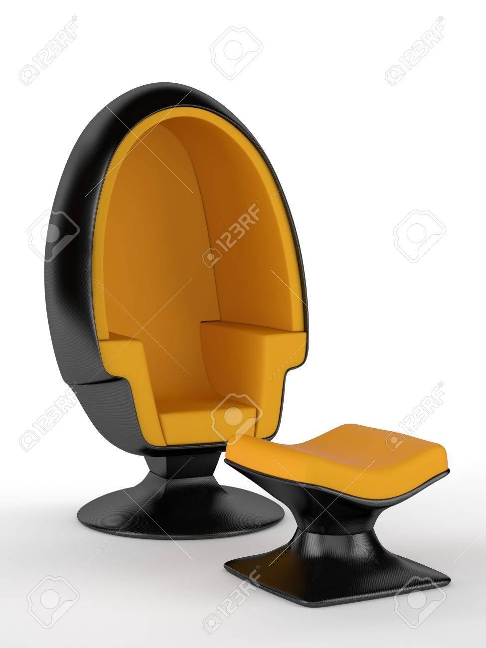 Carbon Fiber Chair Modern Furniture Render Carbon Fiber Chair On White Background