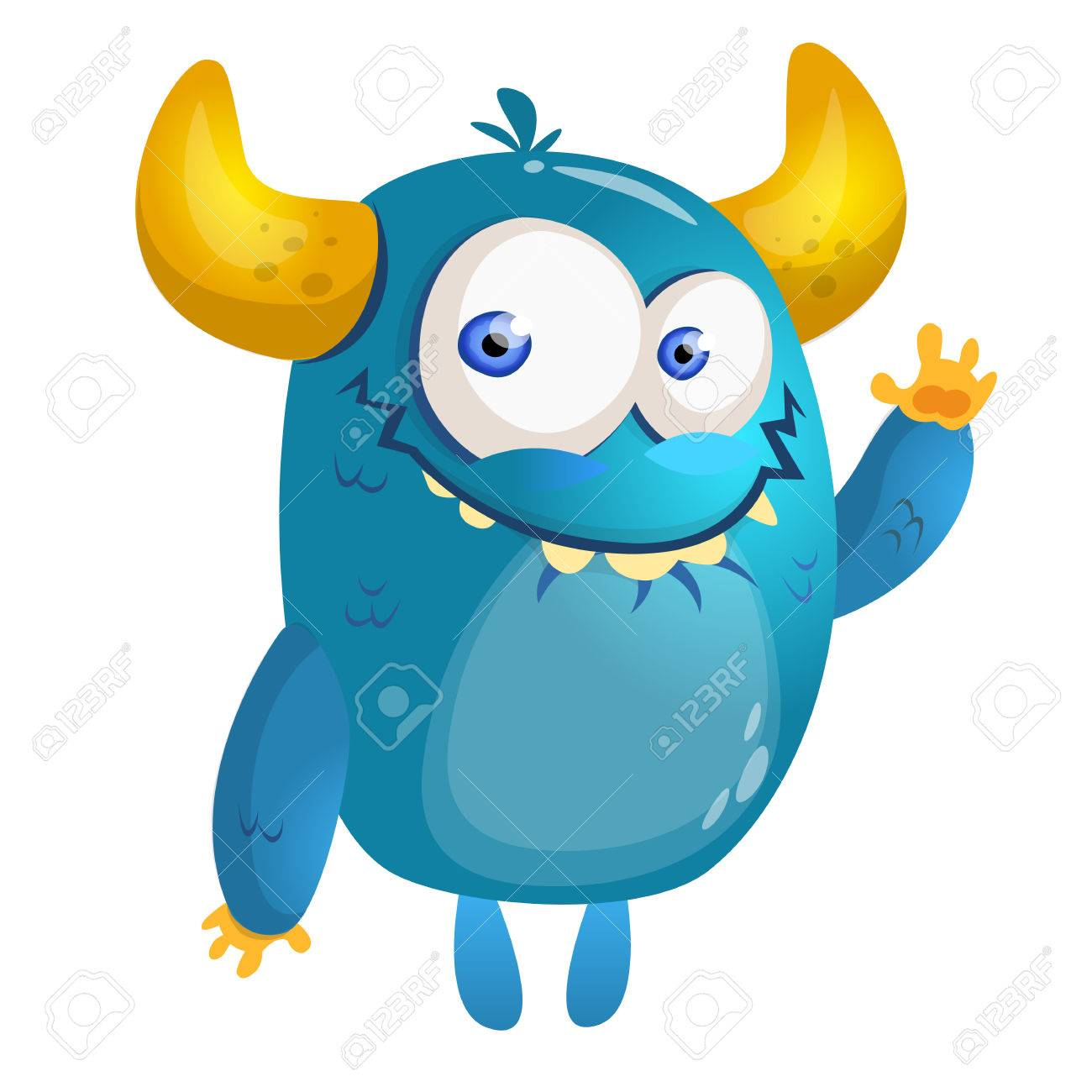 cartoon blue monster vector illustration royalty free cliparts rh 123rf com monster victory motorcycles monster victory trophy