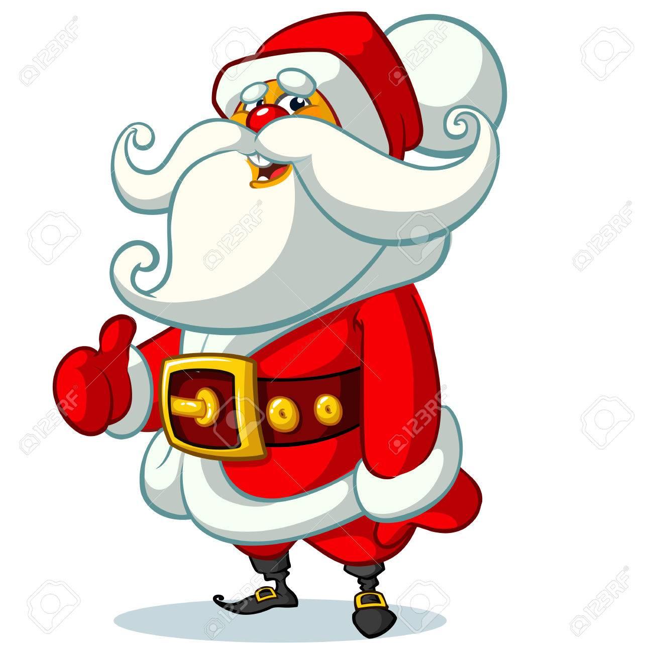 Sfondi Babbo Natale.Vettoriale Babbo Natale Su Sfondo Bianco Illustrazione Vettoriale Per La Cartolina Di Natale Retro Image 66808896