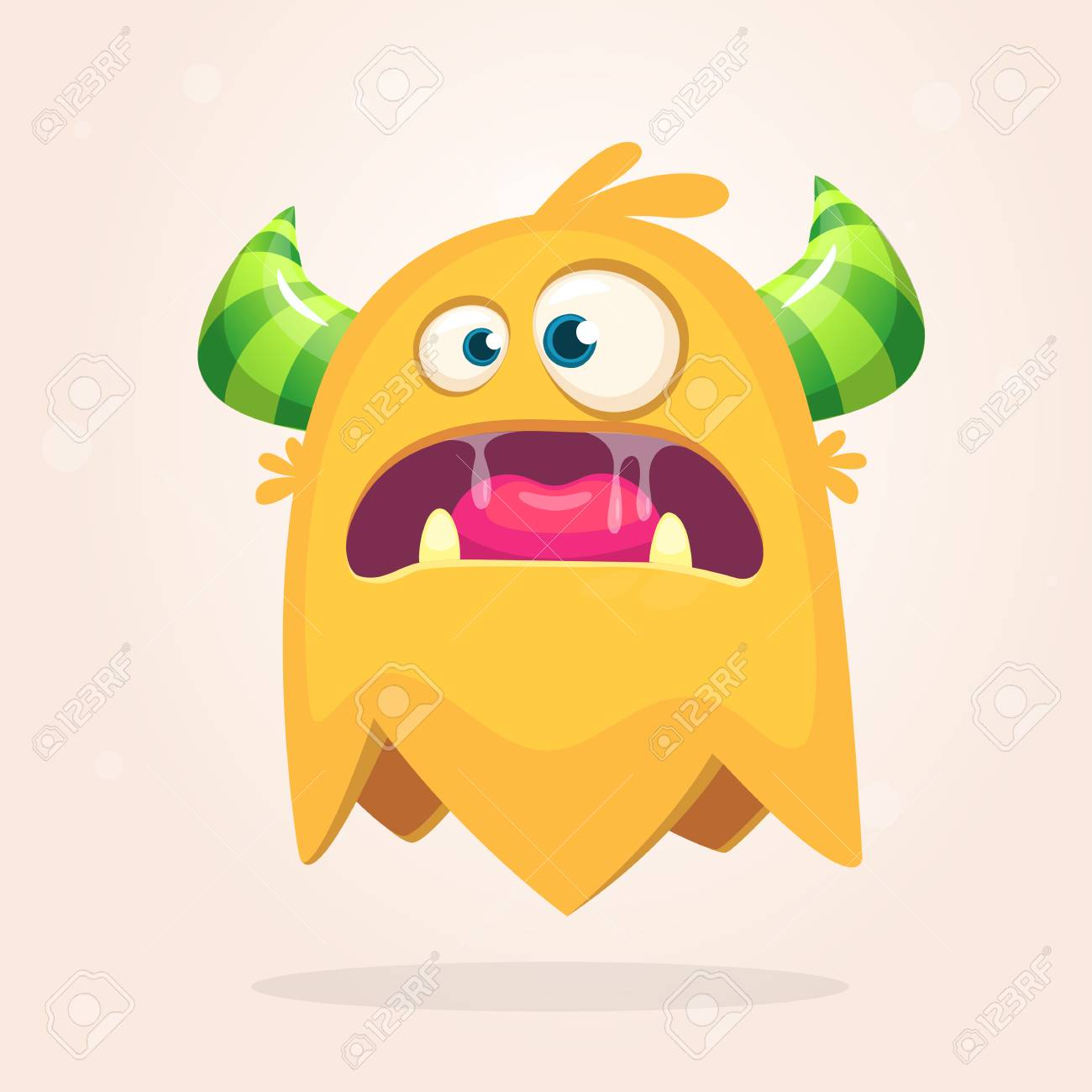 Angry Orange Cartoon Monster With Horns Big Collection Of Cute Royalty Free Cliparts Vectors And Stock Illustration Image 85468747