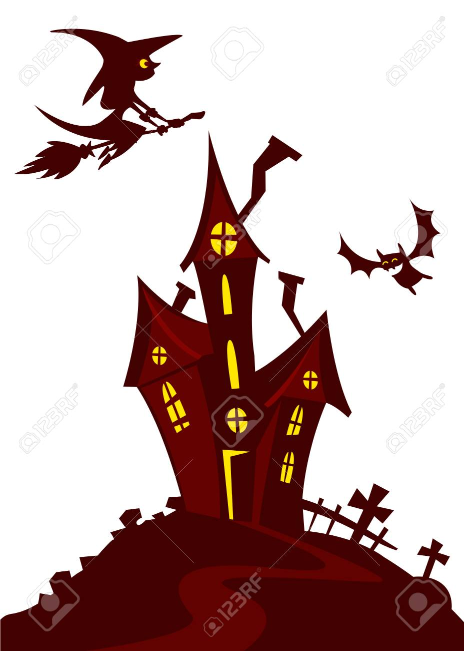 haunted mansion spooky haunted house vector illustration cartoon rh 123rf com