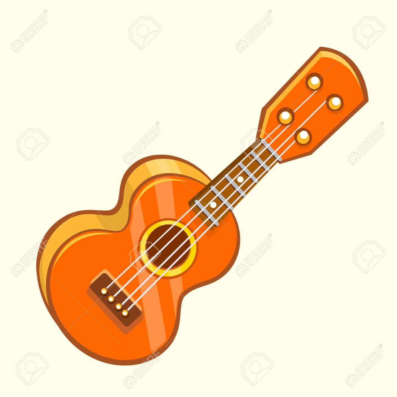 cartoon vector illustration of acoustic guitar or ukulele cartoon rh 123rf com  acoustic guitar outline clipart