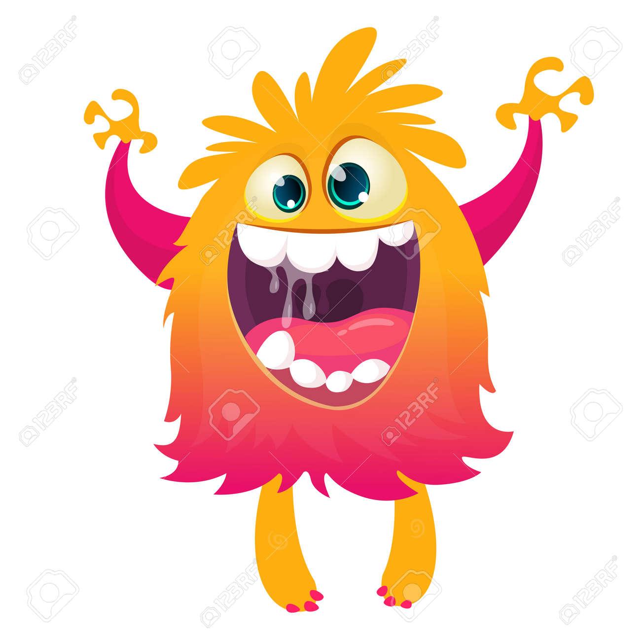 Happy cartoon monster. Halloween vector illustration - 154840710