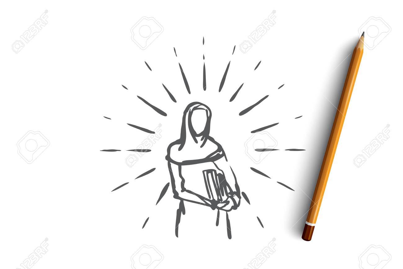 Education, student, muslim, arabic, islam, library concept  Hand