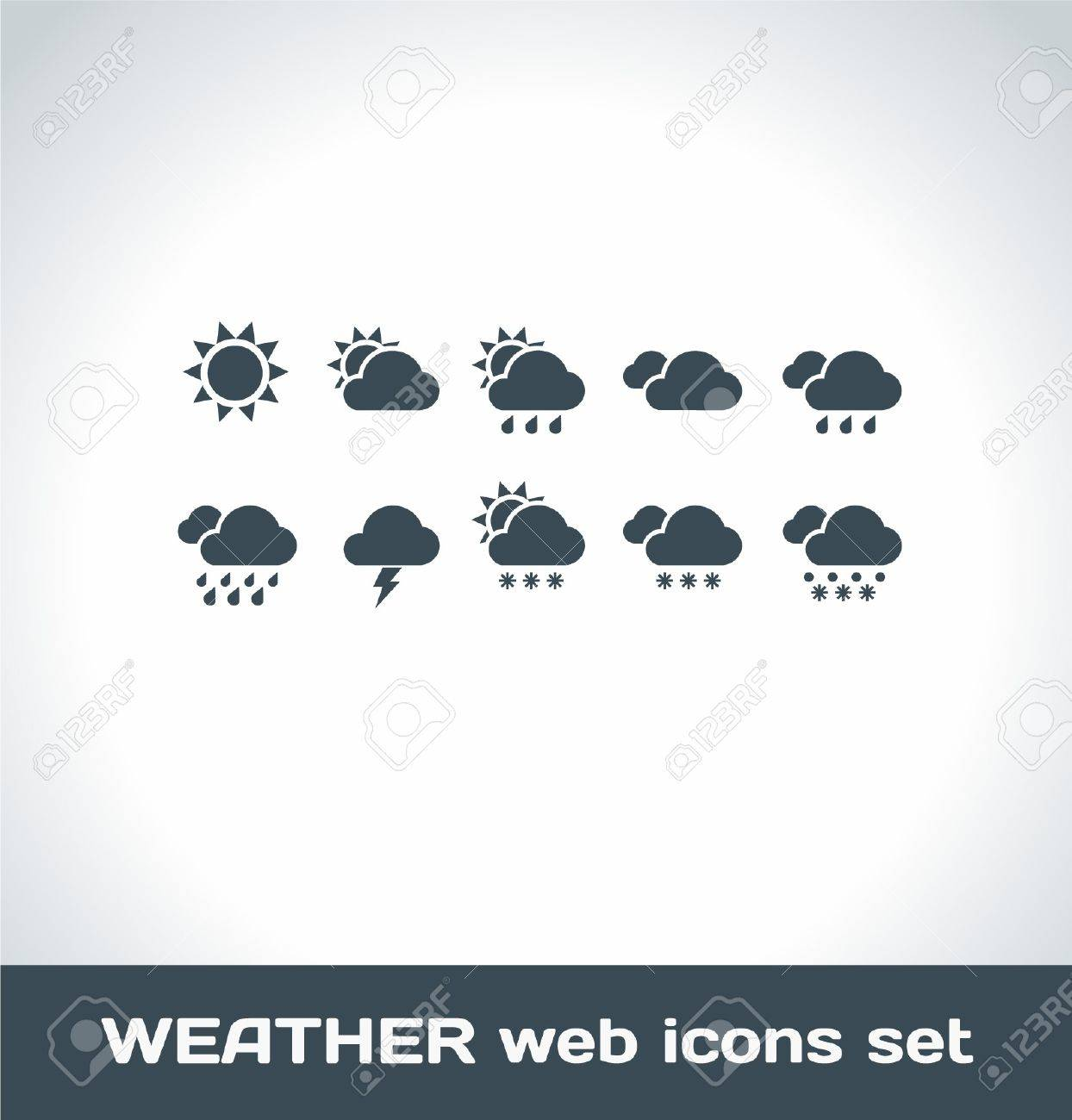 Weather Icons Stock Vector - 16872886