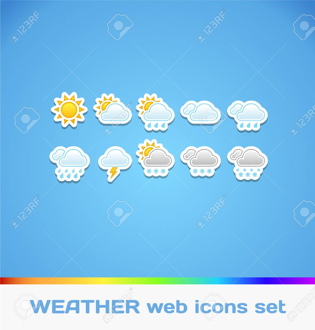 Weather Colorful Icons Stock Vector - 16872909