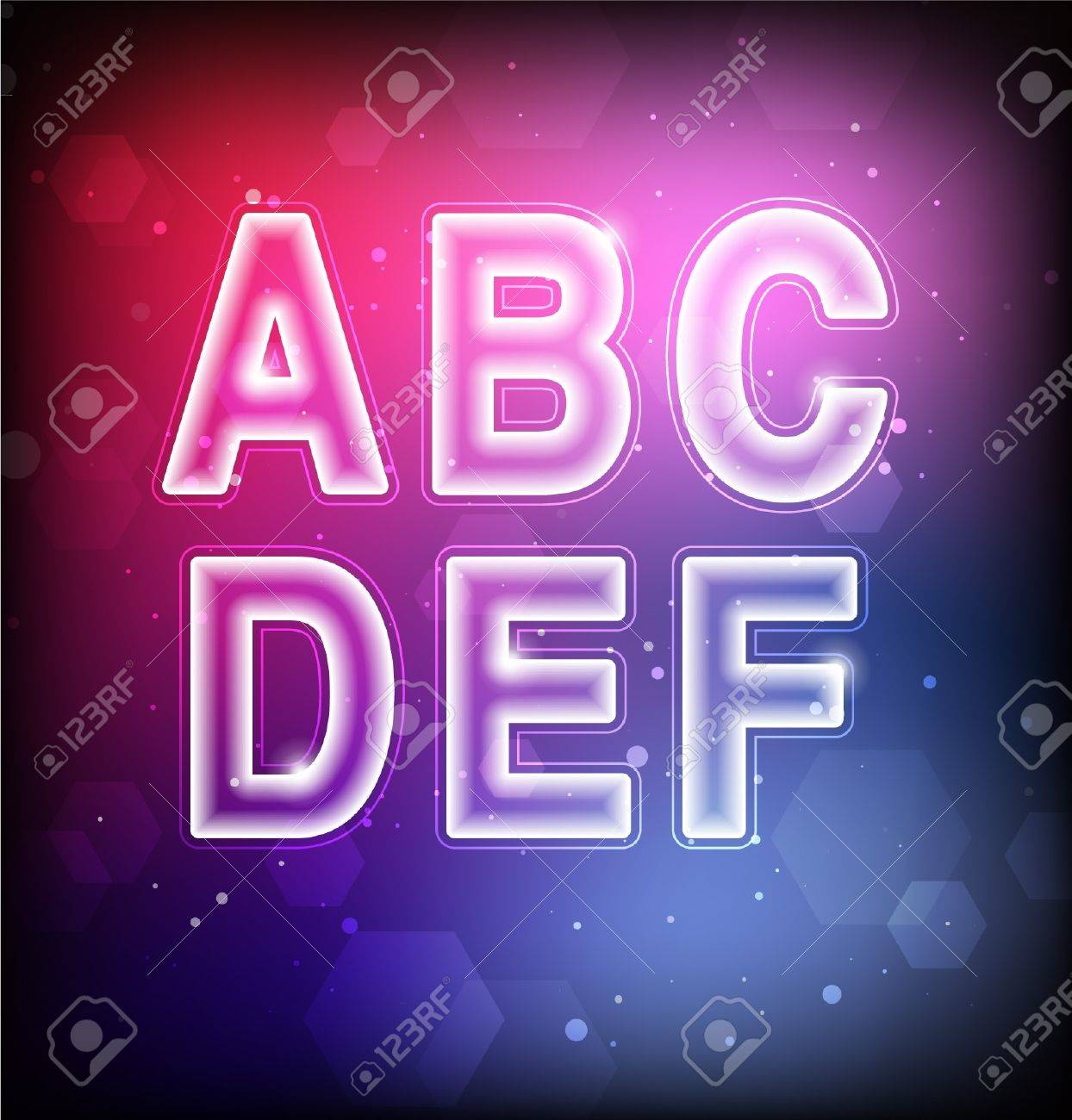 Abstract Font A-F Stock Vector - 16873013