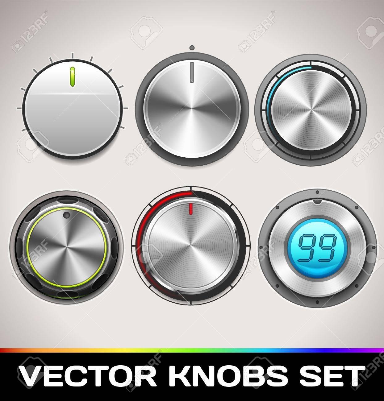 Knobs Set Stock Vector - 16873024