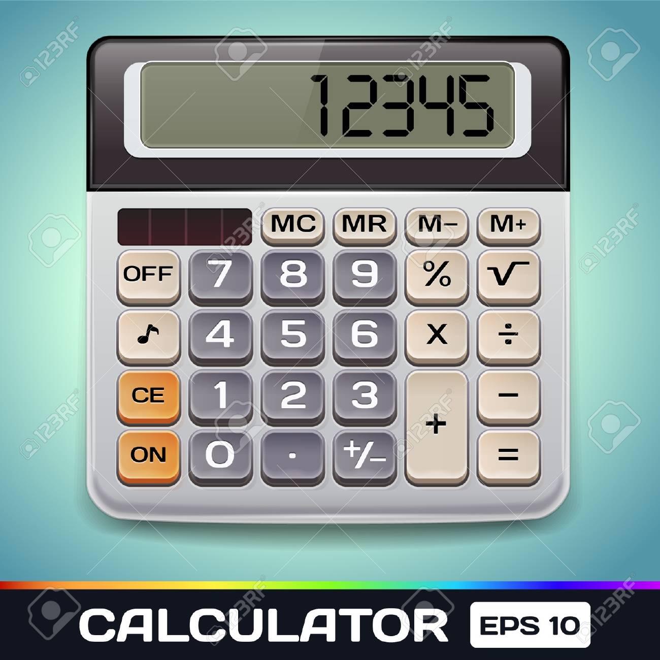 Realistic  Electronic Calculator Stock Vector - 17315500