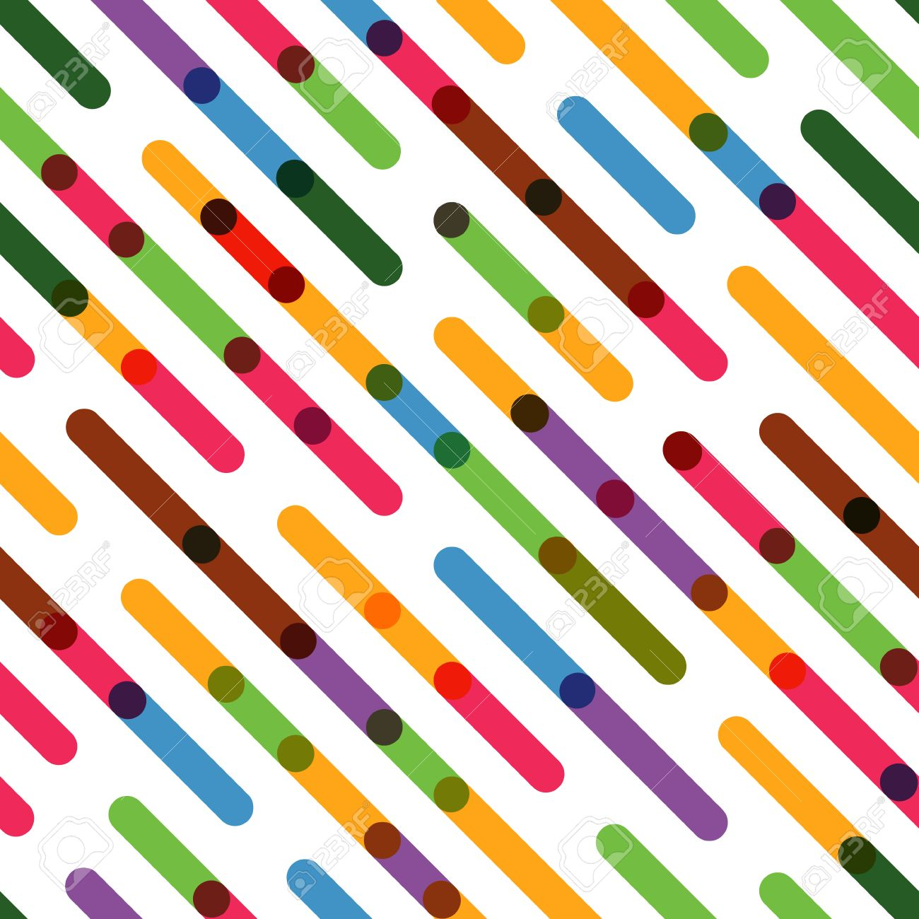 Flat Background With Colorful Diagonal Lines Vector Seamless Pattern For Web Presentations Wallpapers