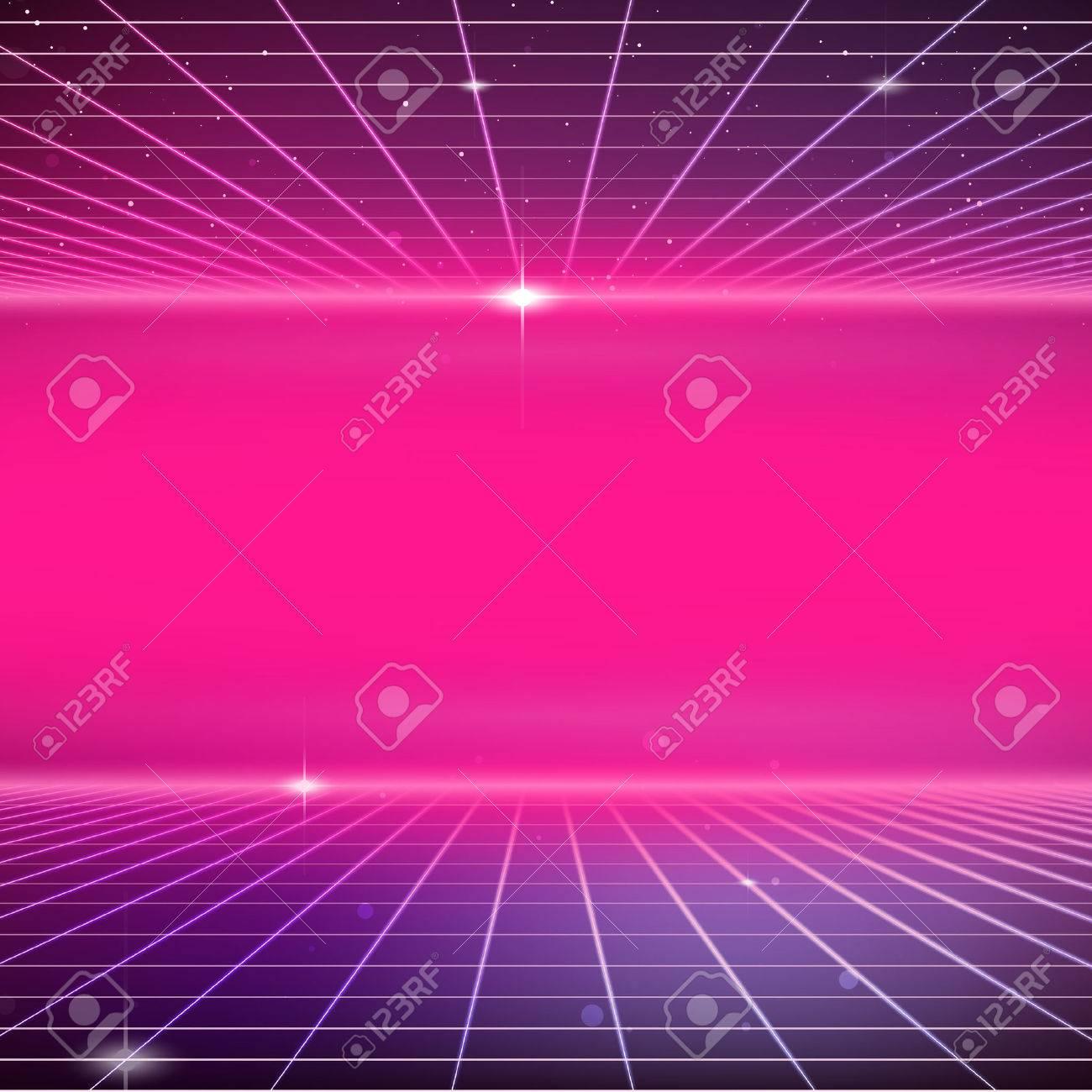 80s Retro Sci-Fi Background - 36477438
