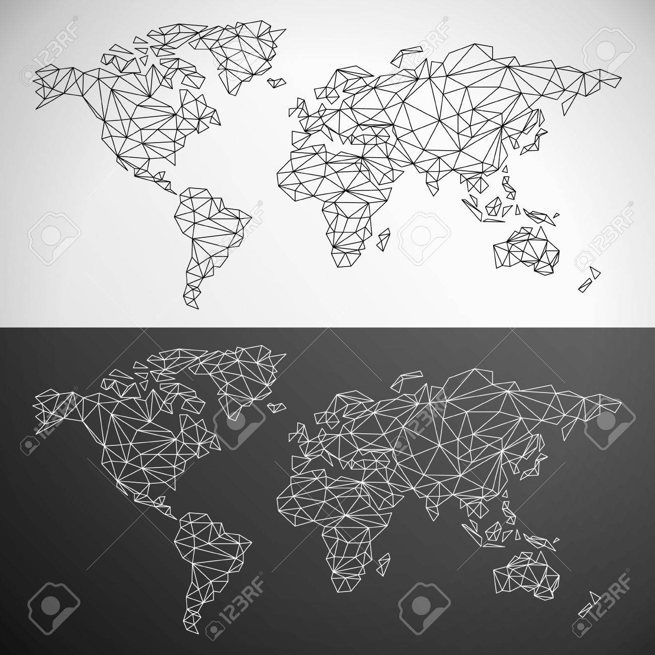 Vector low poly world map outline royalty free cliparts vectors vector low poly world map outline stock vector 36984628 gumiabroncs Gallery