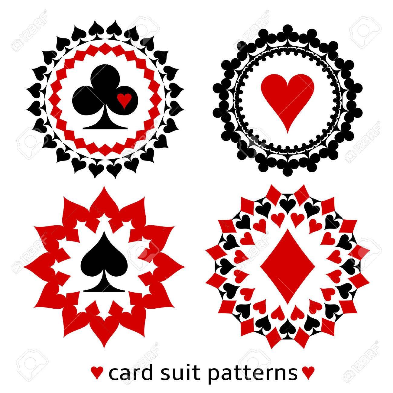 fancy spade card  Nice card suit round patterns. Fancy elements of spade, heart,..