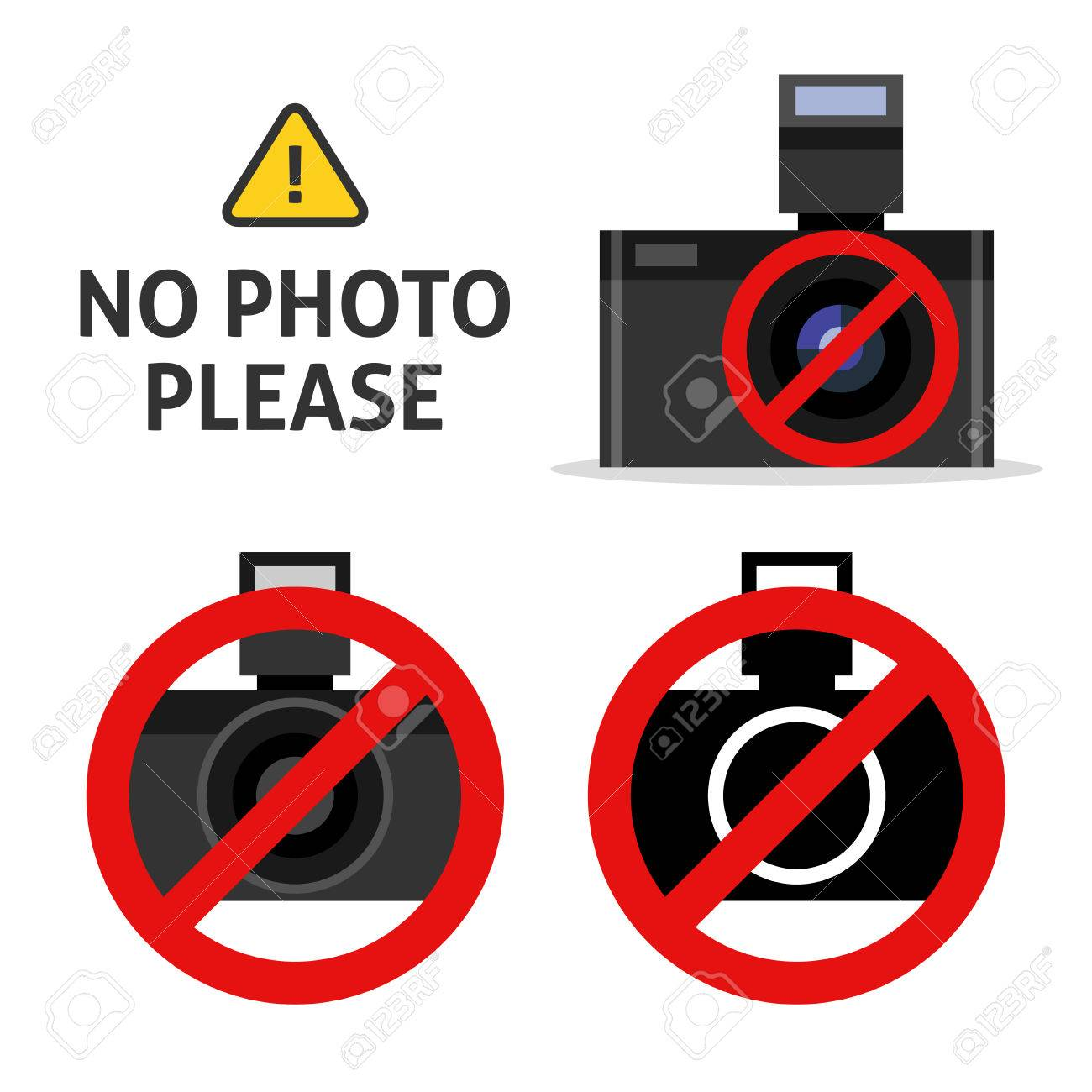 Prohibition No Photo Solid Icon. No Photograph Sign Vector Illustration  Isolated On White. Forbidden Camera Glyph Style Stock Vector - Illustration  of camera, prohibition: 140653316