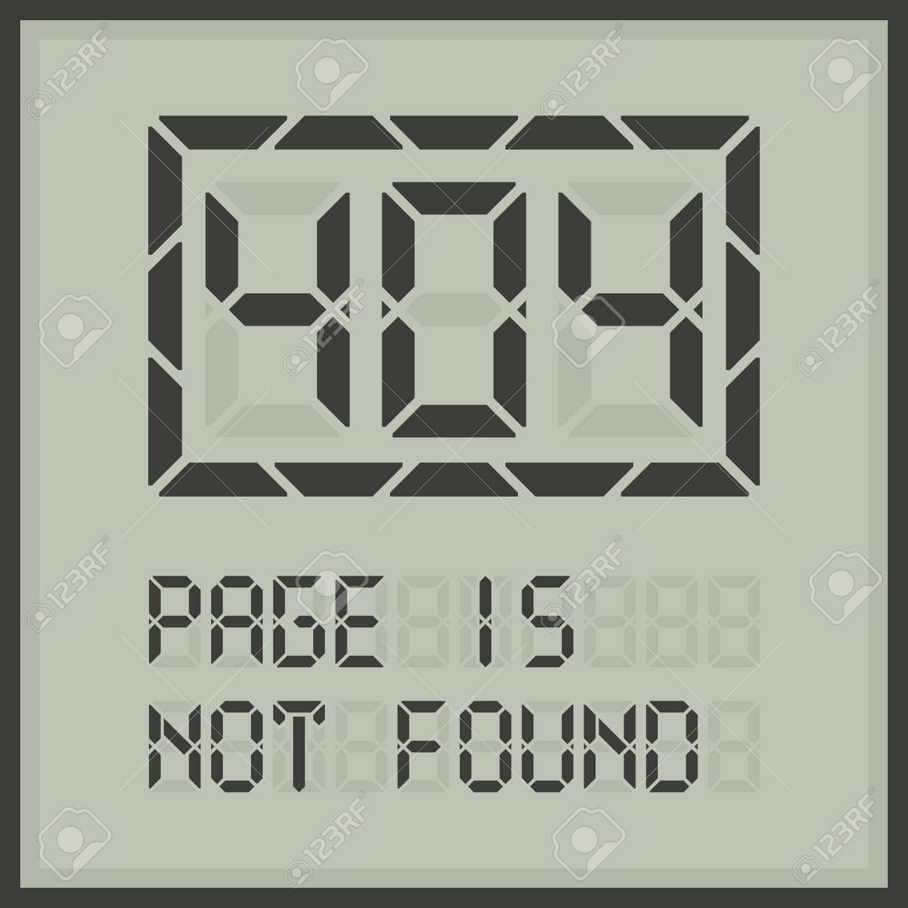Page In Not Found. Error 404 Web Page Template. Royalty Free ...