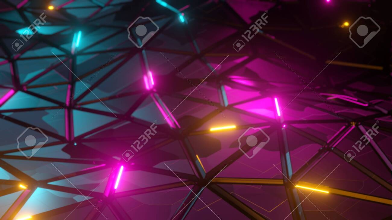 Abstract low-poly triangular polygonal mosaic render background for prints, web and presentations. Realistic 3D design template - 149975365