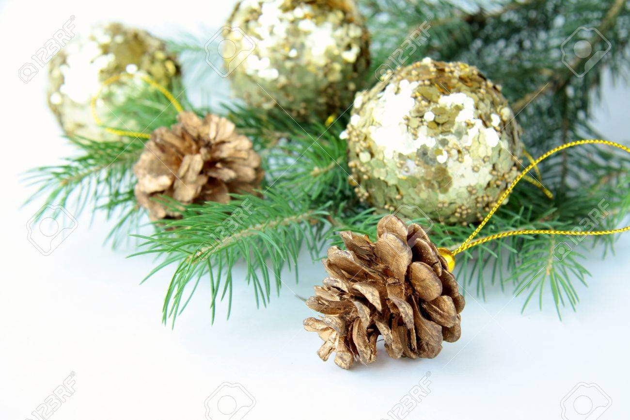 New Year 's tree fir with Christmas decorations Stock Photo - 10045039