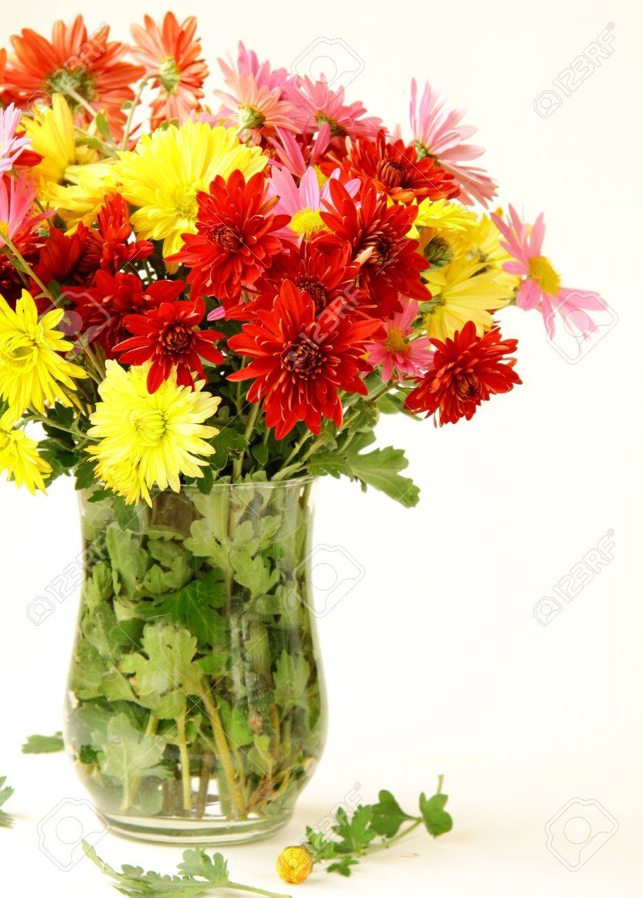 Bouquet Of Flowers Autumn In A Vase Stock Photo Picture And Royalty