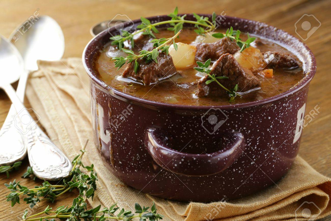 Traditional French Beef Goulash Boeuf Bourguignon Stock Photo 17593848