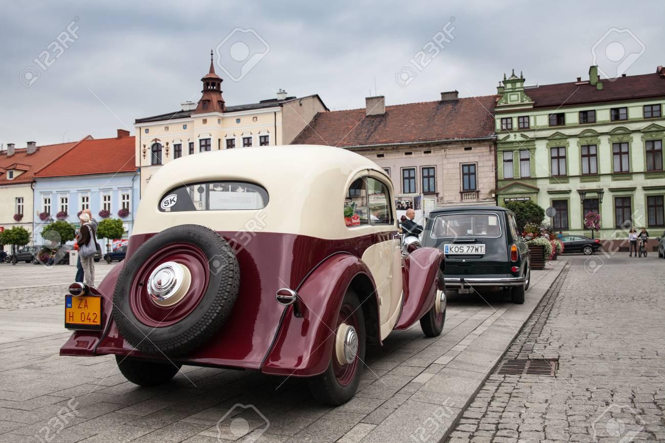 Old Car Praga, Rear View, Retro Design Car. Exhibition Of Vintage ...