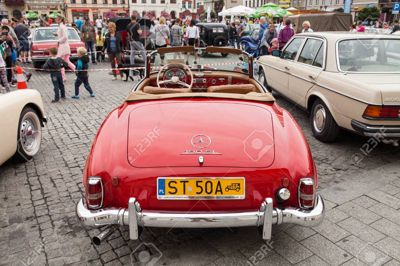 Mercedes 190 SL, Front View, Retro Design Car. Exhibition Of.. Stock ...