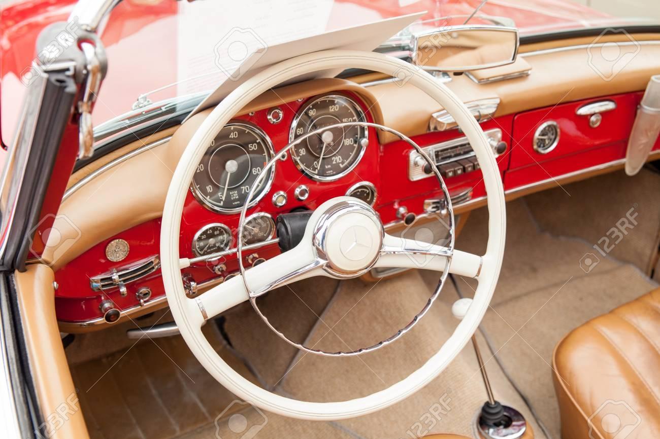 Interior Mercedess 190 Sl Inside View Retro Design Car Exhibition