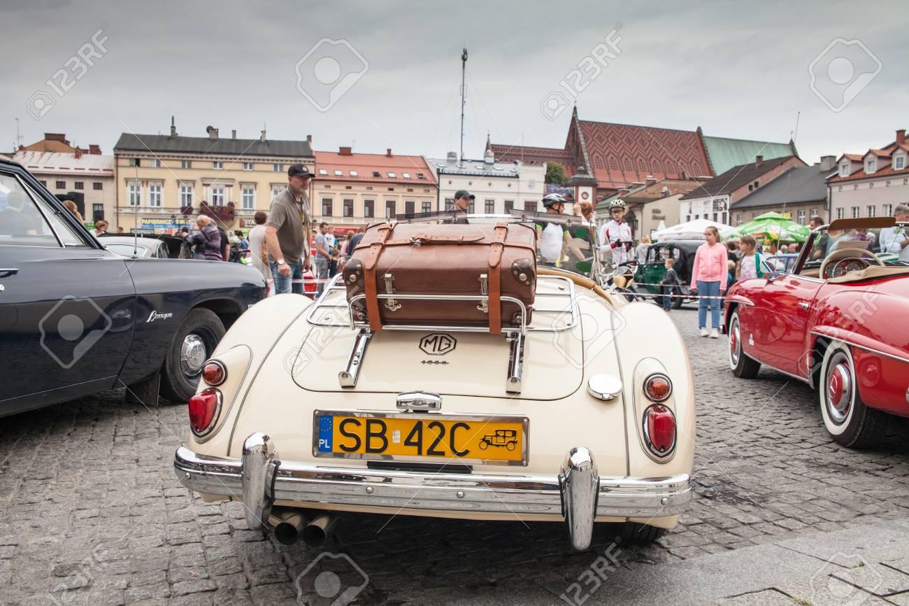 MG 1600, Rear View, Retro Design Car. Exhibition Of Vintage Cars ...