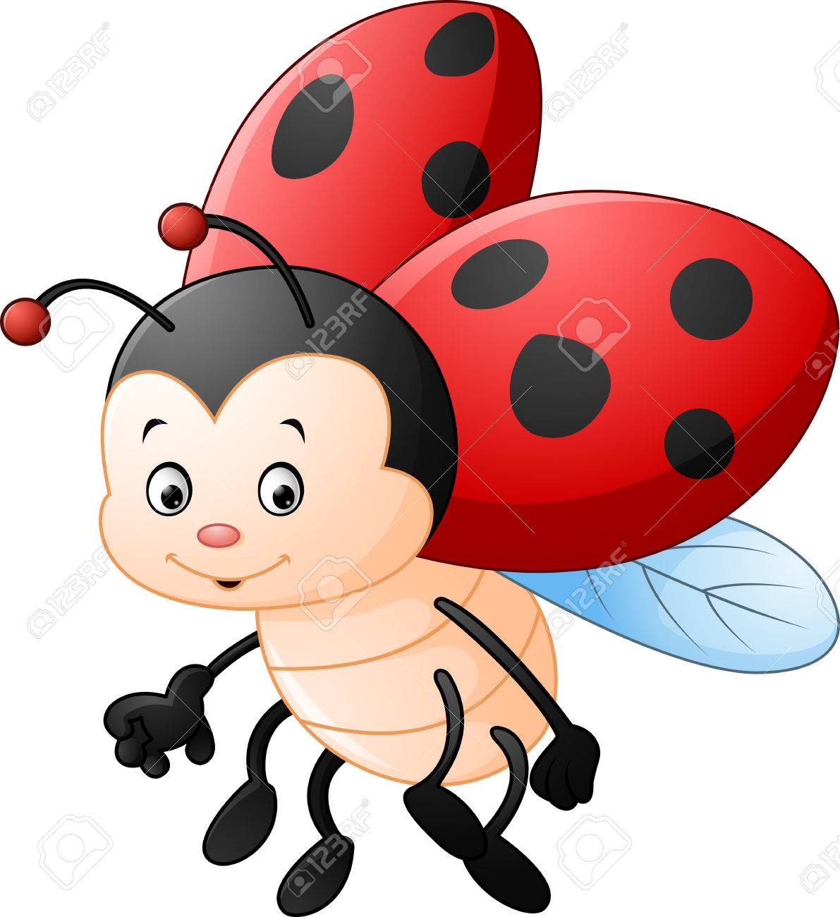 A Cartoon Ladybug cartoon ladybug waving