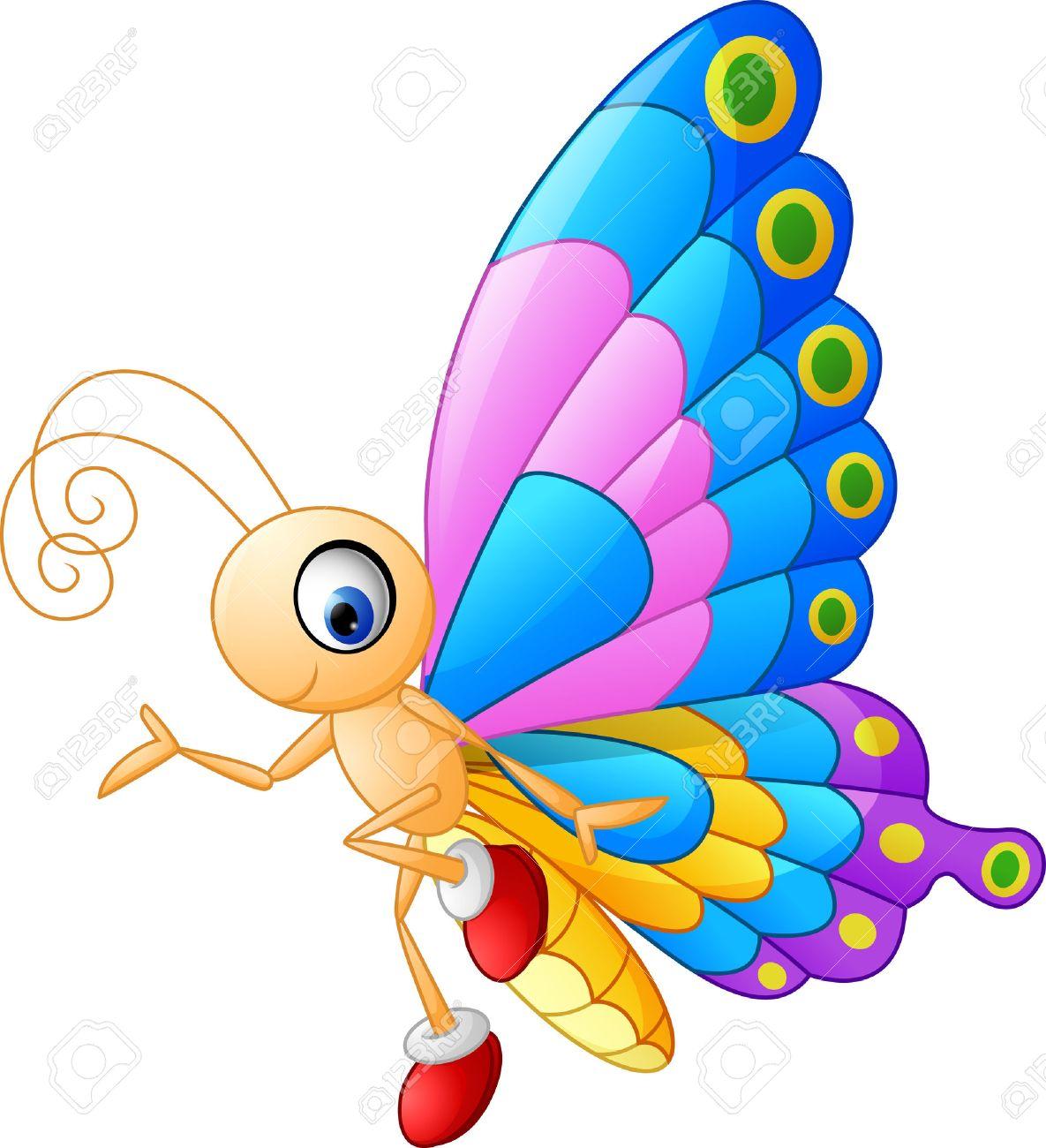 presentación de dibujos animados lindo de la mariposa ilustraciones