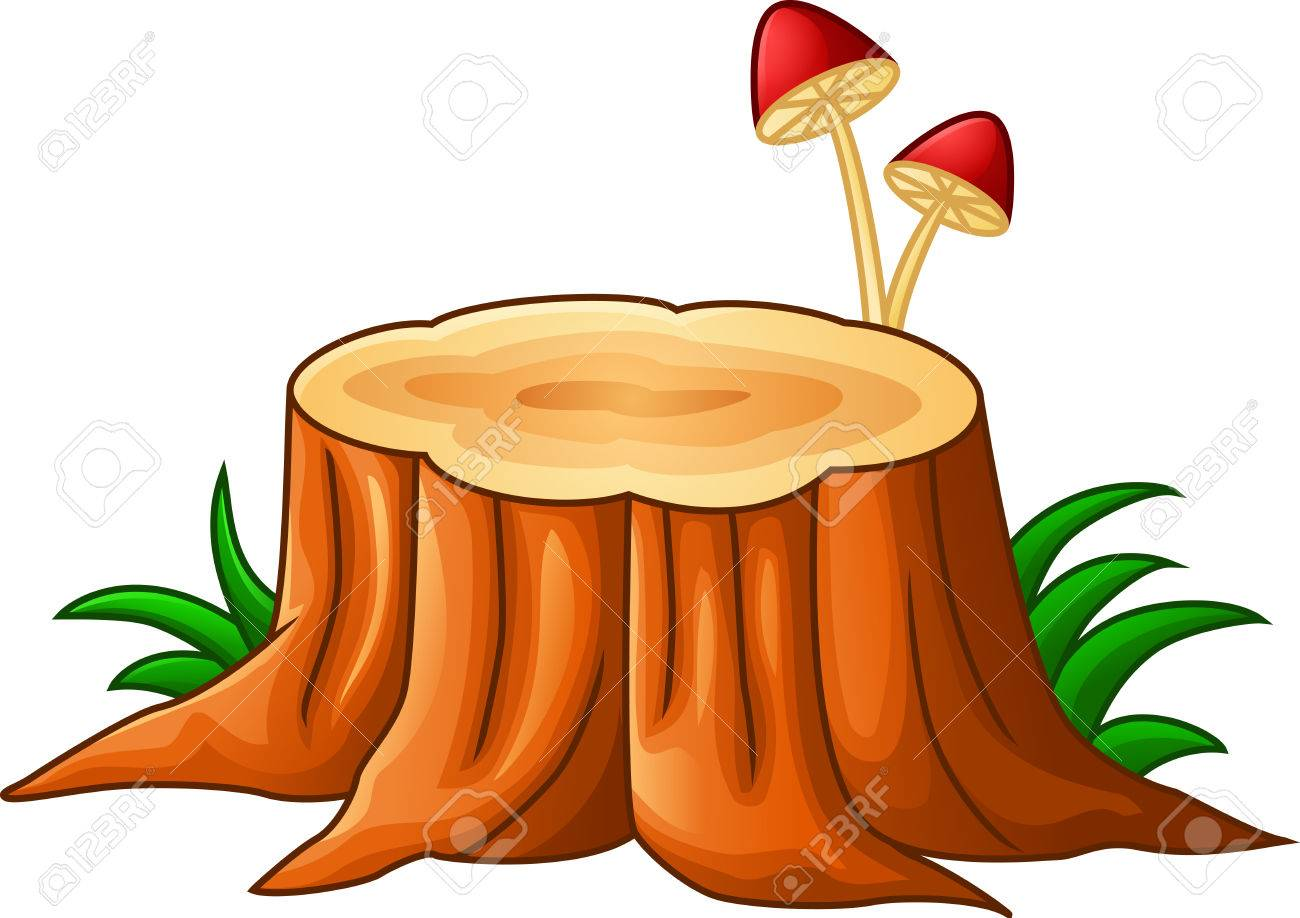 illustration of tree stump and mushroom royalty free cliparts rh 123rf com tree stump clipart free