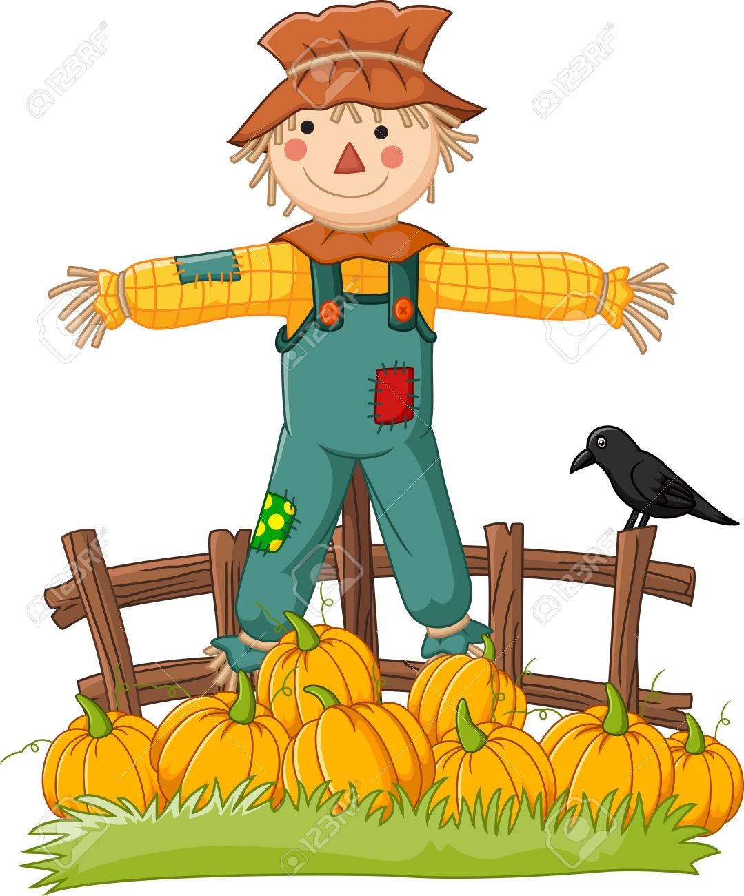cartoon scarecrow character royalty free cliparts vectors and